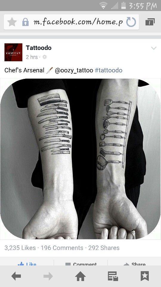 Chef's Arsenal Tattoos