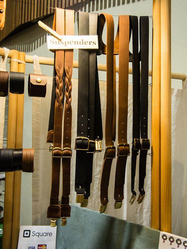 Leather suspenders, Daniel Walling