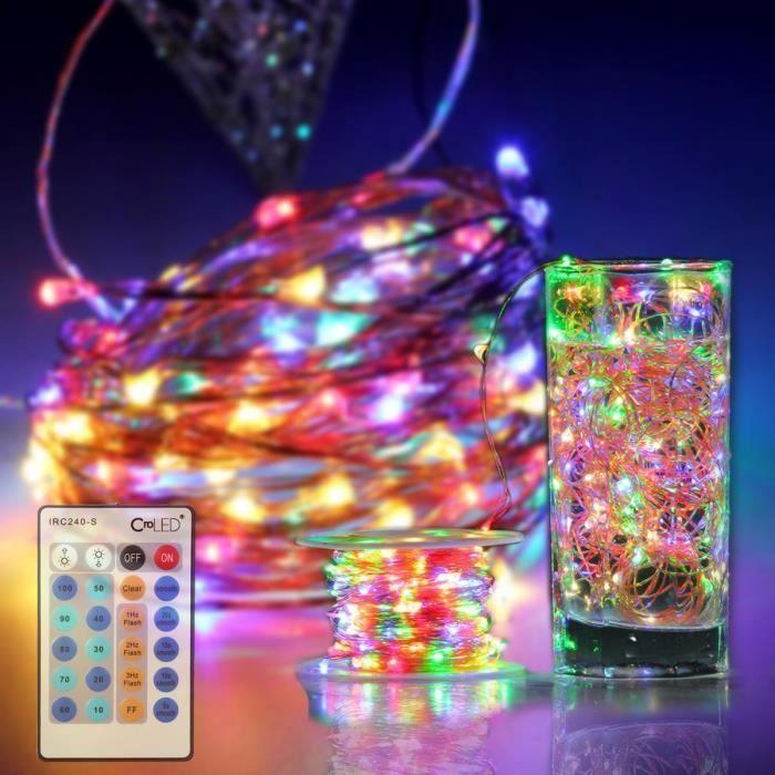 guirlande lumineuse | CroLED Guirlande Lumineuse LED intérieur extérieur multicolore ...