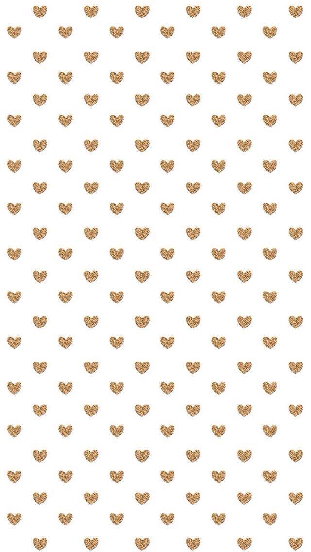 White gold mini hearts iphone background wallpaper phone ...