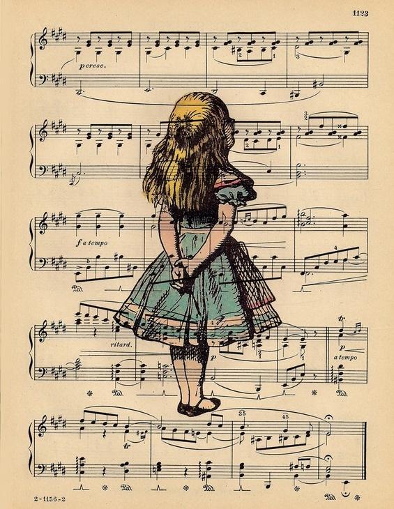 Alice in Wonderland - Vintage Art Print by BlackBaroque