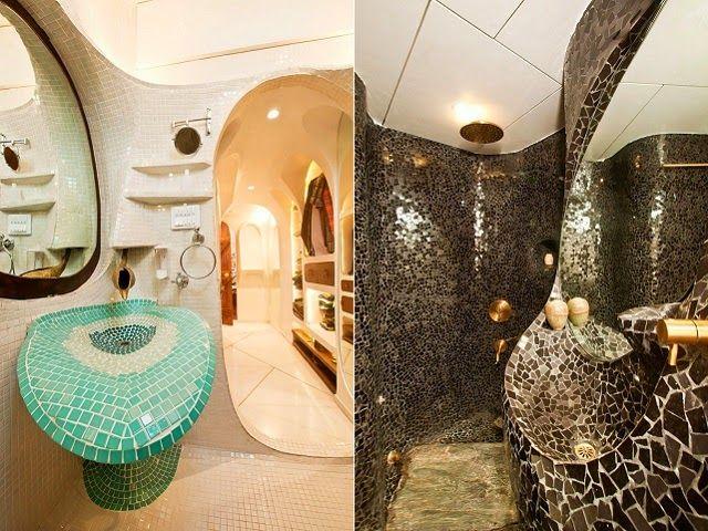 mosaic bathroom tiles in beautiful mumbai apartment mozaiky pinterest mosaic bathroom bathroom tiling and mosaics - Bathroom Tiles Mumbai
