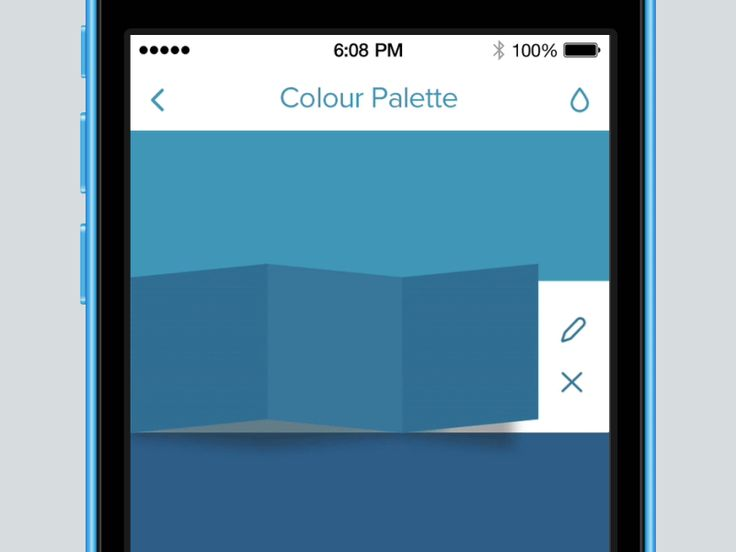 Folding Panels Animation for Colour Palette App by Joe Mortell