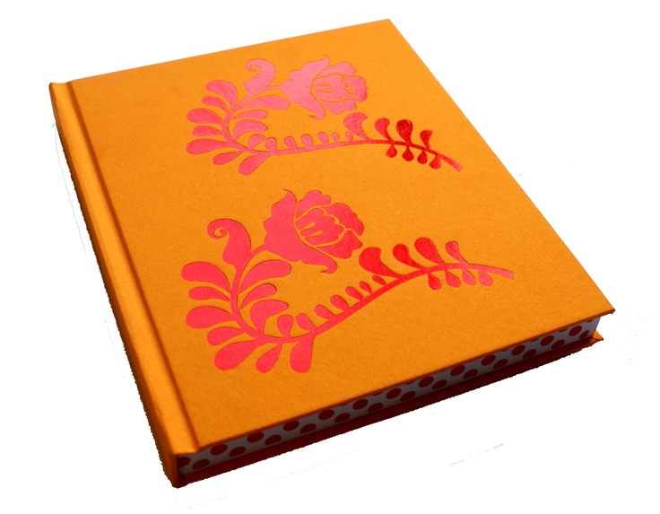 Lotus cloth with red foil blocking and printed book block edges