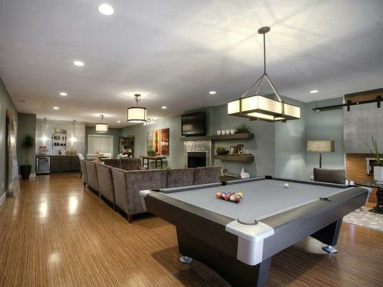 with pool table