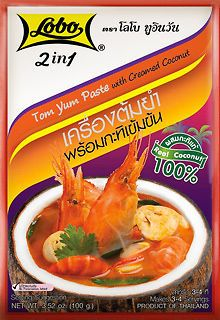 Spicy Soup  5x100g. THAI FOOD TOM YUMCombine soup with coconut milk Lobo 2IN1  #Lobo