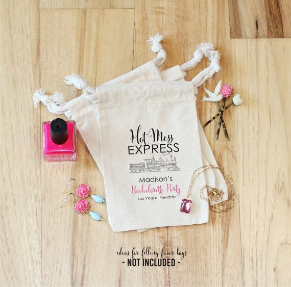 HOT MESS EXPRESS  Personalized Favor Bags  by foryourlittlemonkey