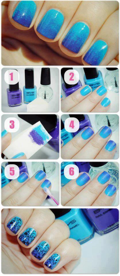 Cool idea! #ombre #nails