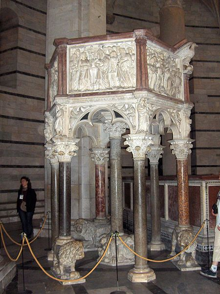Pulpit in Baptistry of Saint John, Pisa (Battistero di San Giovanni)1260