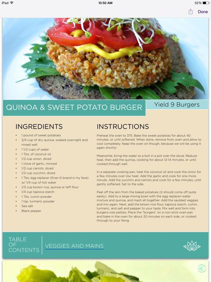 Quinoa and Sweet Potato Burgers from Kimberly Snyder's Beauty Detox 30 Day meal Plan