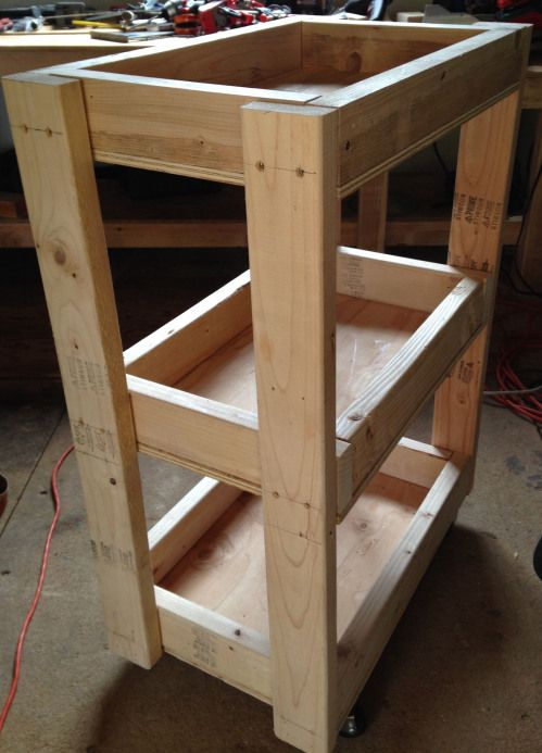 Tool Cart Built From Scrap Wood Inspired By Adam Savage S