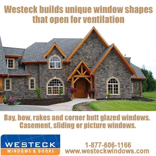 Our windows can be manufactured in many architectural shapes including; half rounds, extended half rounds, extended segmentals, eyebrows, quarter rounds, rounds, octagons, extended octagons, ovals, elipticals, triangles, pentoids and trapezoids. If you or the architect can design it, our specialty department can most likely build it! For more information, please call Toll Free: 1-877-606-1166