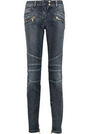BalmainMid-rise skinny jeans