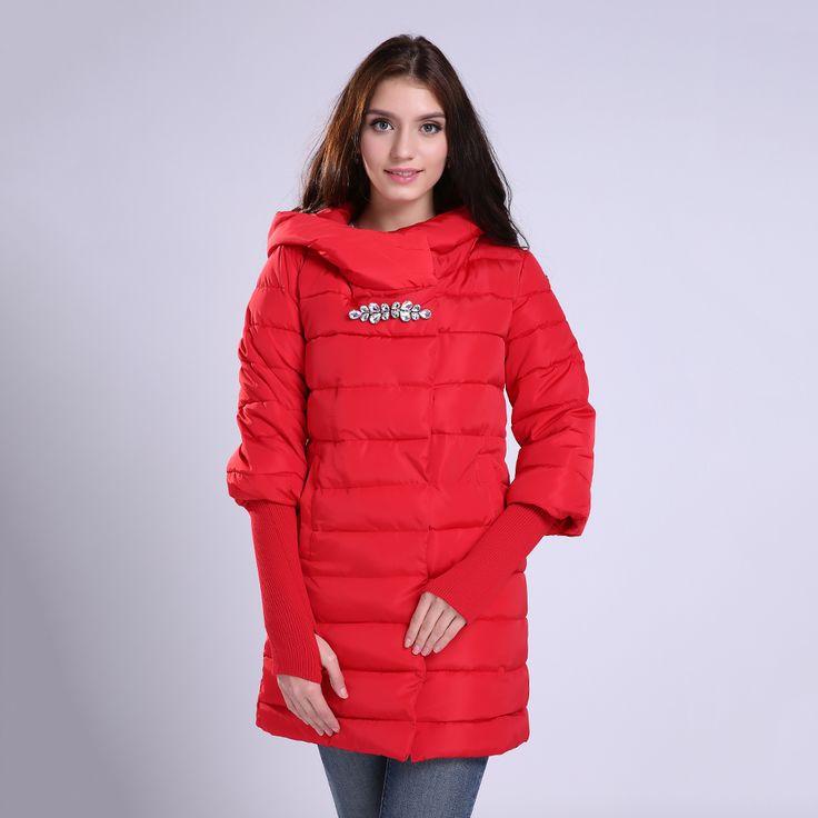 2016 Pakaian musim dingin jaket mantel wanita panjang parkas penebalan Perempuan Hangat