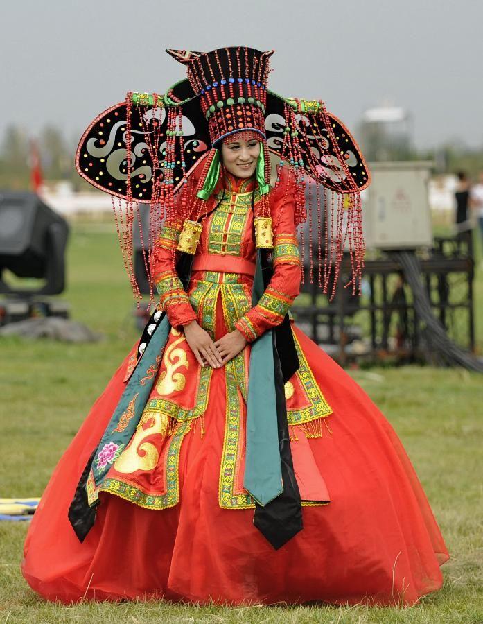 Tradicional traje de Mongolia.