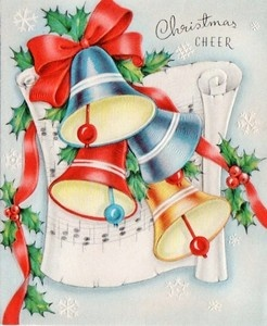 vintage christmas bell card