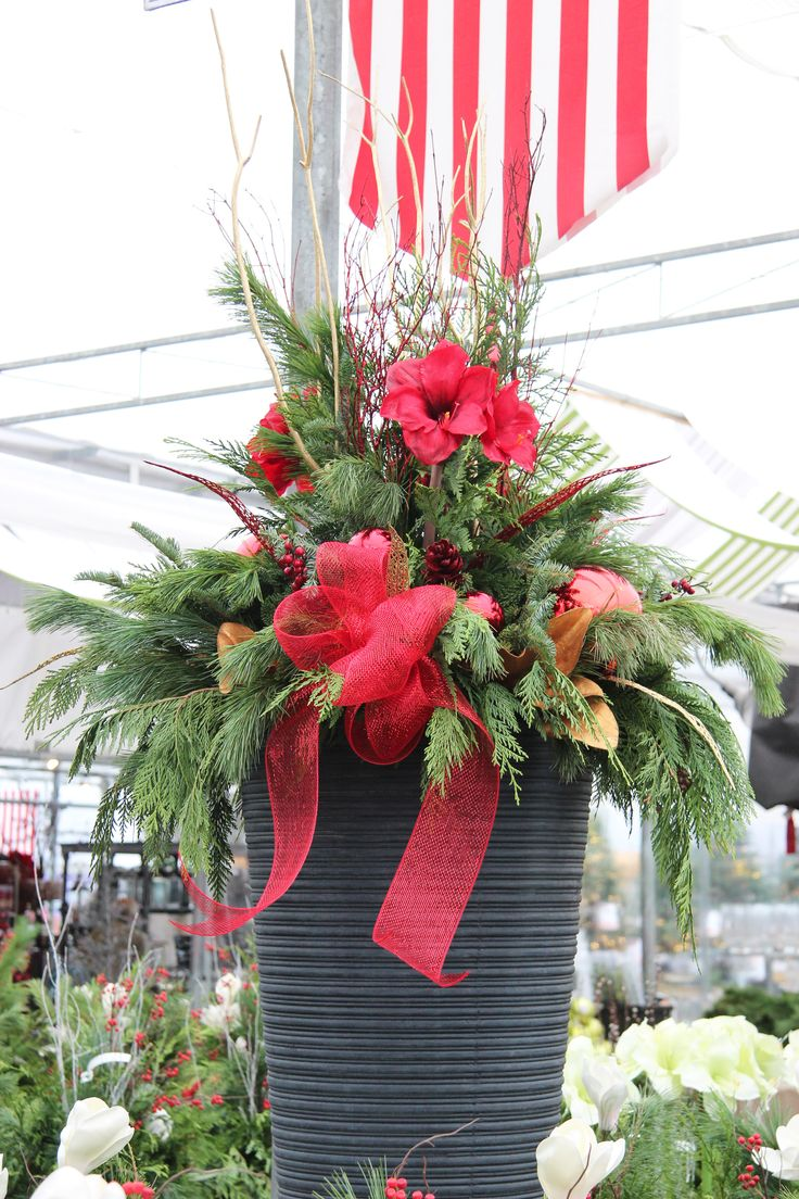 34 Best Images About Outdoor Christmas Planters On