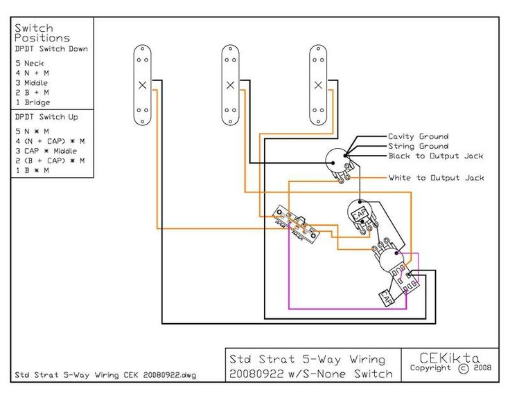 wiring diagram for dimarzio bridge
