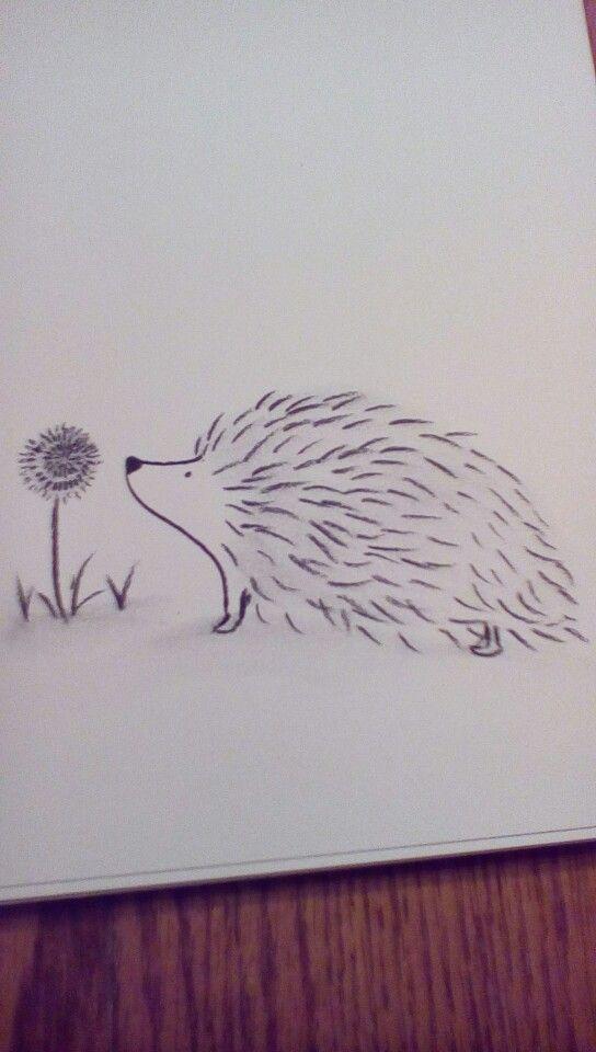 Charcoal hedgehog