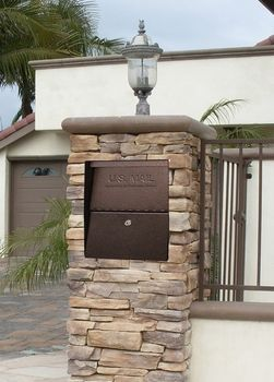 High Security Locking Column Mailbox Insert