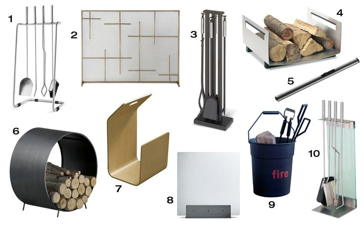10 Modern Fireplace Tools & Accessories