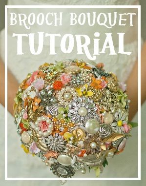 #Brooch #Bouquet Tutorial... I'm not usually super into #DIY but this is gorgeous