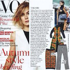 Vogue UK September issue - Tak.Ori Made in Italy