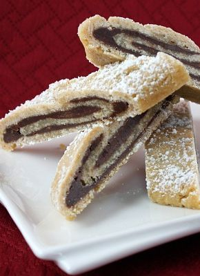 Bake-and-Slice Chocolate Swirls- my families favorite #Christmas cookie recipe for the last 40+ years.