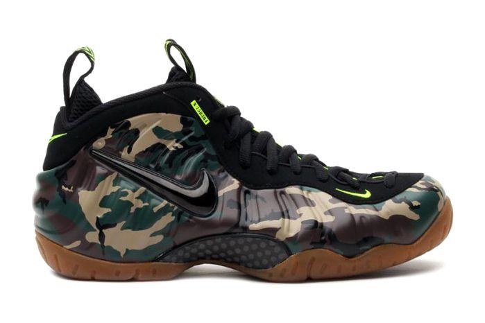 Camo!!  Nike Air Foamposite Pro Forest/Black Volt