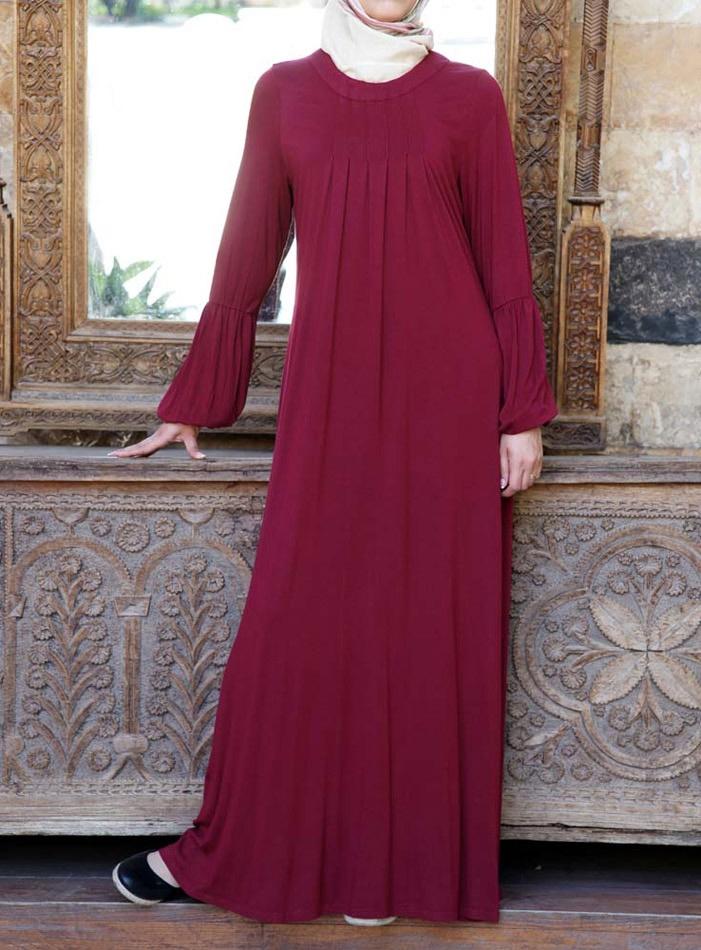 Jersey Pleated Abaya