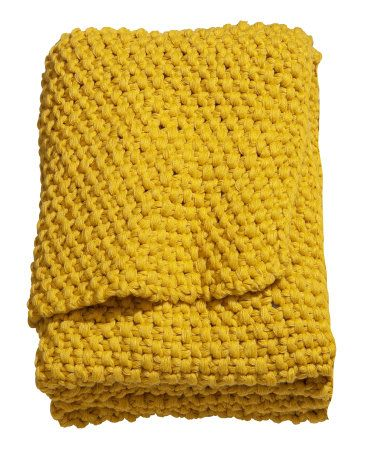 Moss-knit blanket  £49.99, H&m. Acrylic.