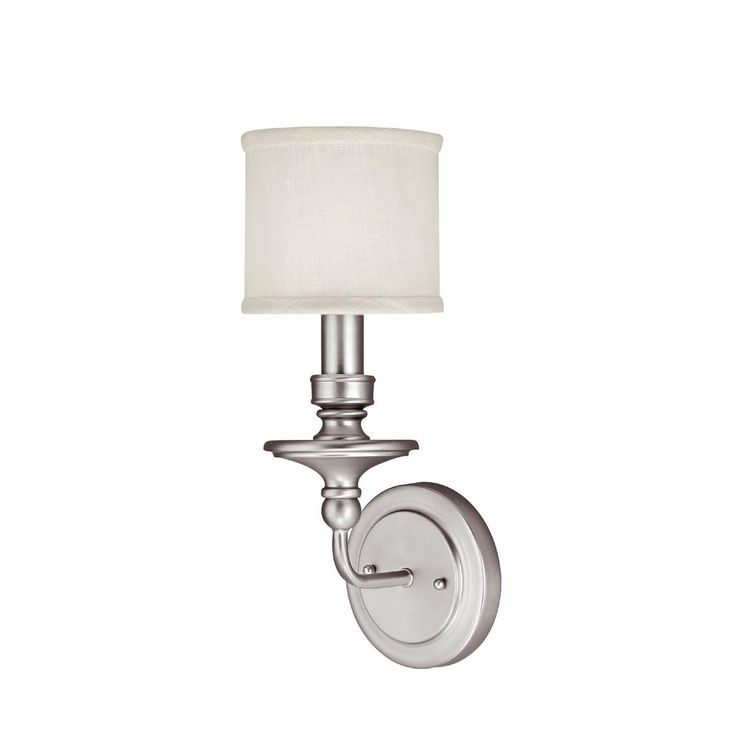 Springfield Sconce with Linen Drum Shade 1 Light105 best lighting   home design images on Pinterest   Lighting  . Bathroom 1 Light Sconces. Home Design Ideas
