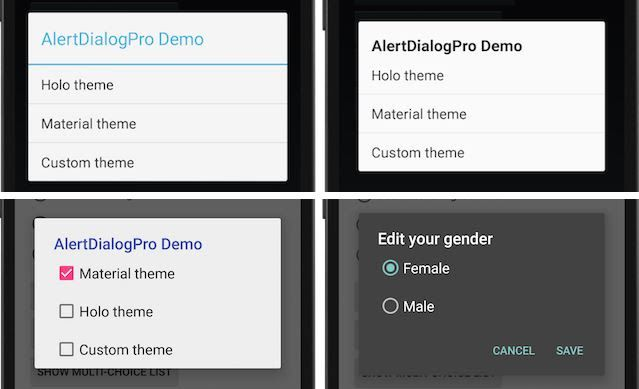 Alert Dialog Pro Android Library
