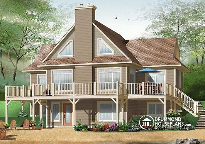 W3958 3 To 4 Bedroom Panoramic Cottage House Plan With