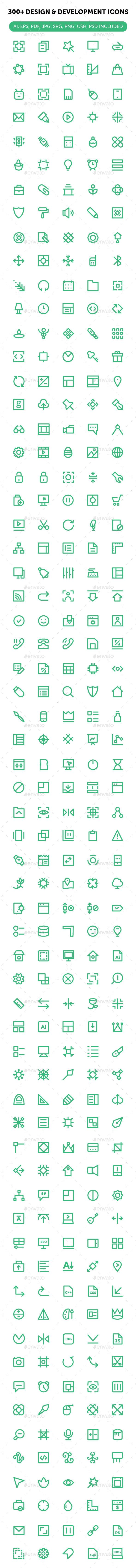 300+ Design and Development Icons. Download here: http://graphicriver.net/item/300-design-and-development-icons/16565674?ref=ksioks