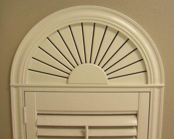 Arched Window Shutter For Half Circle Window Above Door