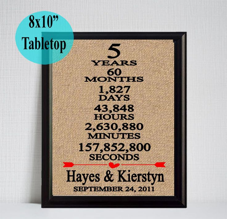 Fifth Year Wedding Anniversary Gift: 17 Best Ideas About 5 Year Anniversary On Pinterest