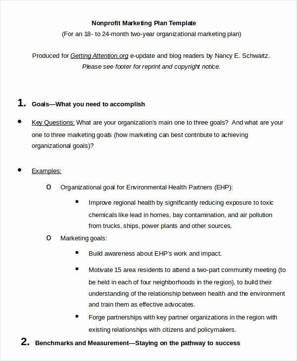 Non Profit Marketing Plan Template Unique Marketing Plan Template 30 Free Word Excel Pdf P Nonprofit Marketing Plan Nonprofit Marketing Marketing Plan Template