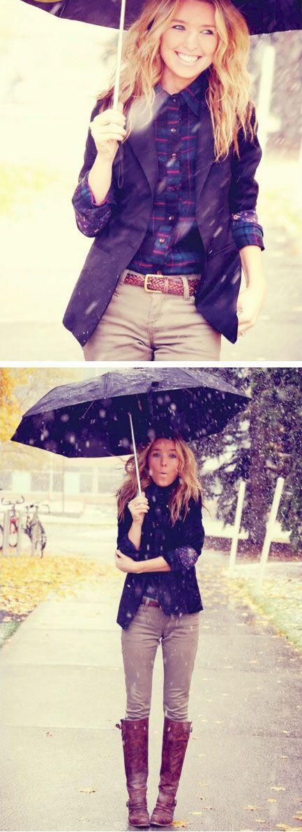 Mit den richtigen Schuhen und einem großen Schirm macht uns Regen nichts mehr aus!