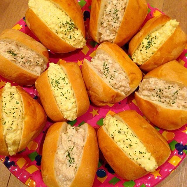 新玉ねぎのサンドイッチ! 卵もツナ缶もコストコでまとめ買い‼︎ - 32件のもぐもぐ - コストコのロールパンでたっぷり卵サンド&ツナサンド by mymama