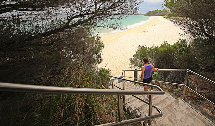 White Sands walk, Jervis Bay National Park - Chinamans Beach northern stairs. Photo: Andy Richards