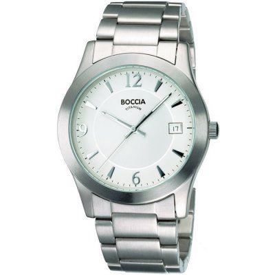 Boccia Mens White Dial Titanium Bracelet Watch - B3550-01 - RRP: £95.00 - Online Price: £80.75