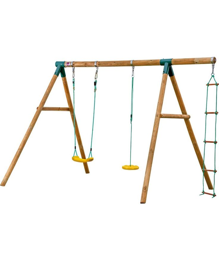 Buy Plum Products Macaque® Wooden Swing Set at Argos.co.uk - Your Online Shop for Swings.