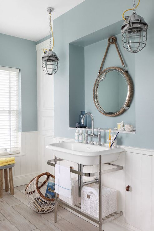 Incroyable Nautical Style Bathrooms, Cottage, Bathroom, Zoffany Paint Dufour, Oliver  Burns