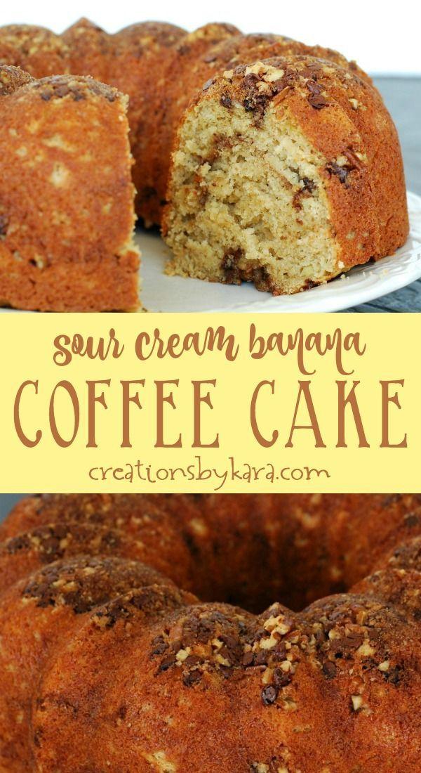 Sour Cream Banana Coffee Cake In 2020 Banana Coffee Cakes Coffee Cake Coffee Cake Recipes