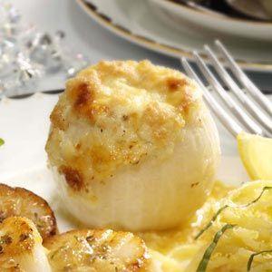 Three-Cheese Stuffed Onions Recipe   Taste of Home Recipes