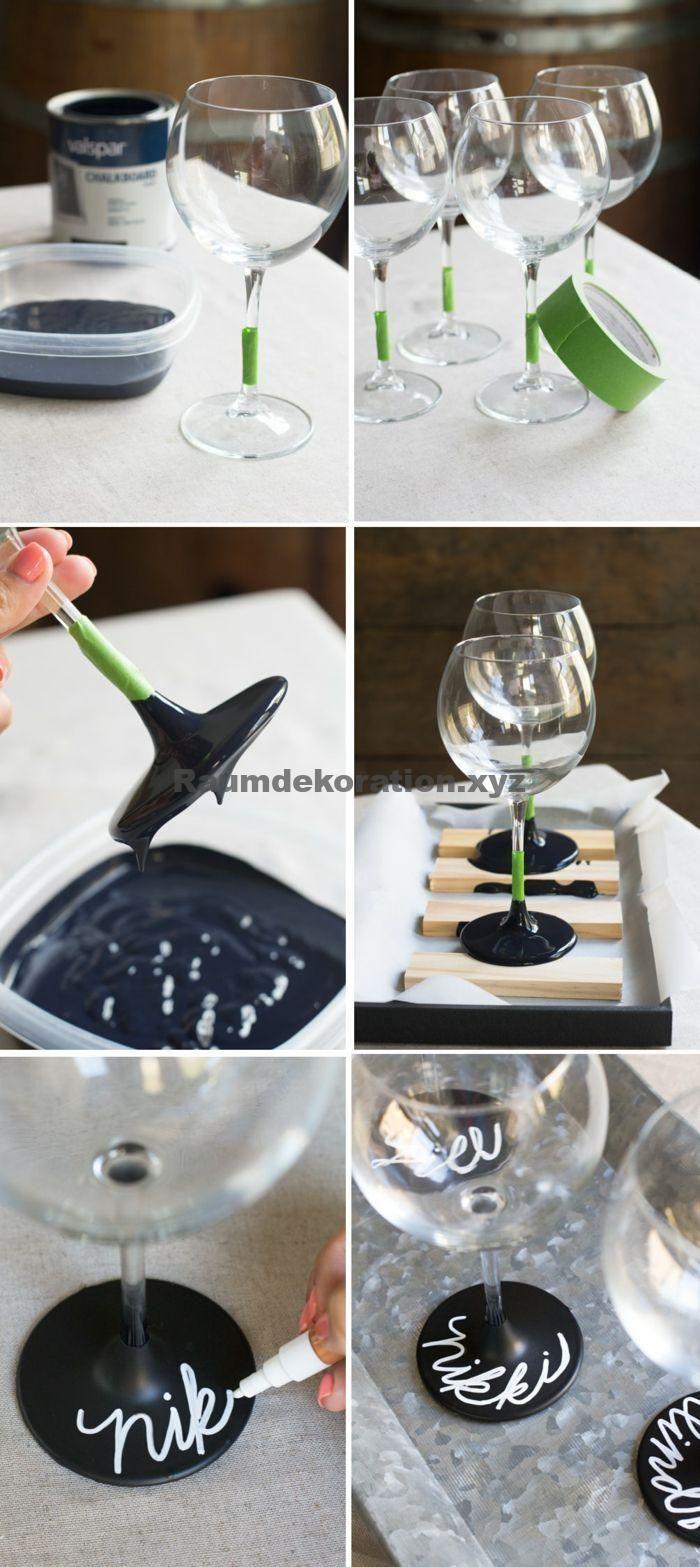 Decoração de mesa de casamento – ▷ 1001 + idéias sobre como decorar decorativamente copos de vinho