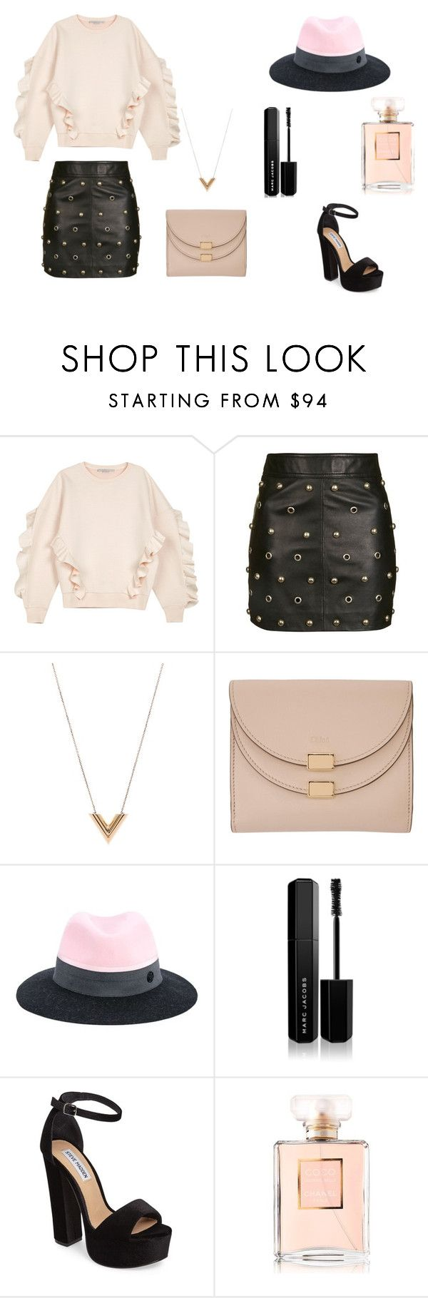 """""""Candy floss"""" by ustine on Polyvore featuring moda, STELLA McCARTNEY, Topshop, Louis Vuitton, Chloé, Maison Michel, Marc Jacobs, Steve Madden i Chanel"""