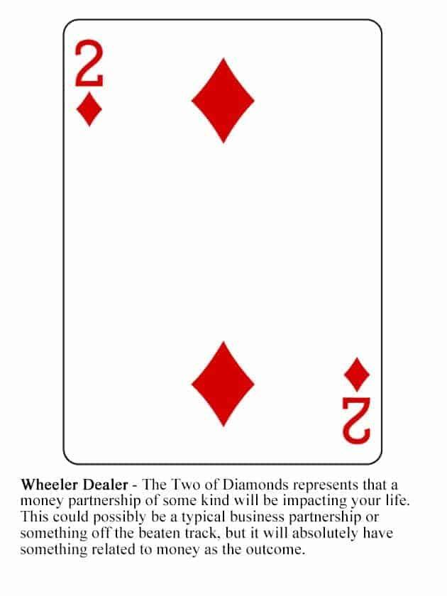 Two Of Diamonds Cartomancy Playing Cards Reading Tarot Cards