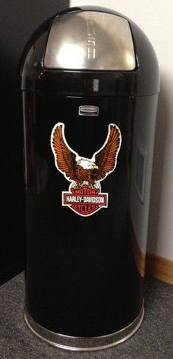 Retro Style Bullet Harley Davidson Trash Can Black or White yeah I know it's kind of corny, but I still want one anyway